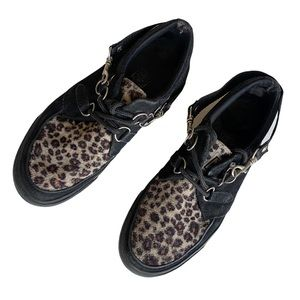T.U.K leopard print sneakers women's 10